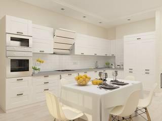 Современный стиль из солнечной пальмиры: Кухни в . Автор – Дизайн студия Марины Геба