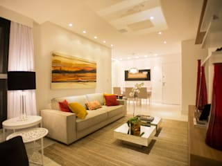 L2 Arquitetura Living room Wood Beige