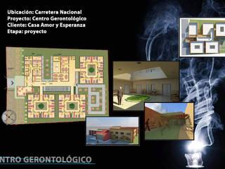 Centro Gerontológico: Recámaras de estilo minimalista por NUMERO SEIS