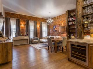 Квартира в историческом доме на Неглинной Гостиная в стиле лофт от ARK BURO Лофт