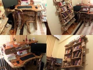 Coşkun Ahşap Dekorasyon – çalışma masası &kütüphane:  tarz