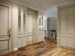 небольшая квартира на карамышевской набережной Коридор, прихожая и лестница в классическом стиле от ARK BURO Классический