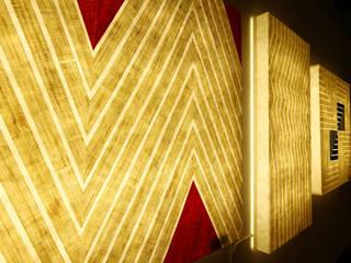 Min_D (민디) Pasillos, vestíbulos y escaleras clásicas Amarillo