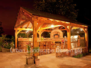 Outdoor Kitchen & Oak Building: country Garden by Urban Landscape Design Ltd