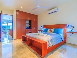 Cedar Headboard & Base with a book storage rack & Floathing Shelves Natureflow® BedroomBeds & headboards Wood