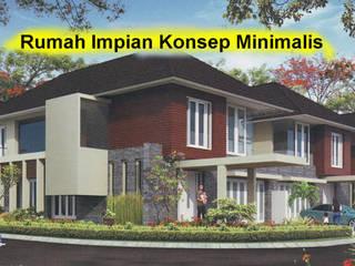 Rumah Minimalis Tipe 36 Koridor & Tangga Gaya Asia Oleh Morla Asia
