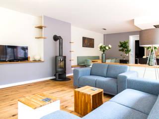Projekty,  Salon zaprojektowane przez Woon Architecten
