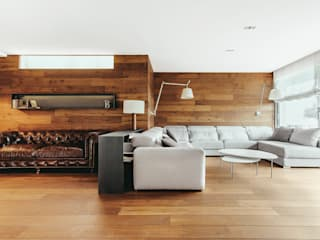 Piso en Sarrià 2: Salones de estilo  de dom arquitectura