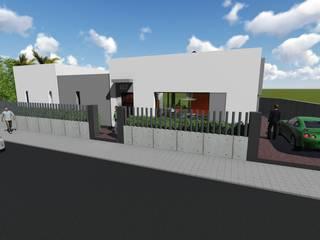 Alzado Principal: Casas de estilo moderno de ARQUISURLAURO S.L.P.