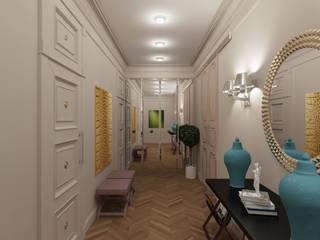 Couloir, entrée, escaliers asiatiques par Архитектура Интерьера Asiatique