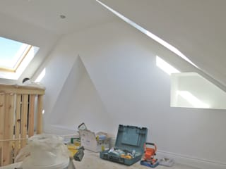 Loft Conversion in Walk-In Victorian Terrace House, NR2 3LQ Modern style bedroom by Paul D'Amico Remodels Modern