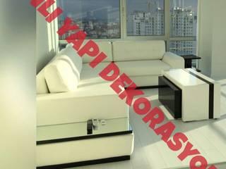 anlı yapı anlı yapı dekorasyon Oturma OdasıAksesuarlar & Dekorasyon Deri Beyaz