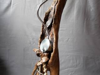 Stehlampe Skulptur von Königswurzeln Ausgefallen