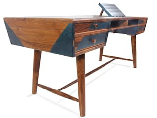 Aizvara: A solid wood executive desk:   by Alankaram