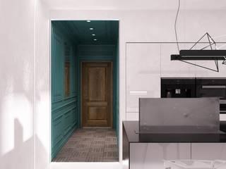 Corredores, halls e escadas ecléticos por QUADRUM STUDIO Eclético