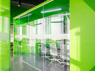 Oficinas Contacto Estudios y despachos modernos de IX2 arquitectura Moderno