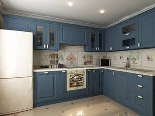 Синяя кухня: Кухни в . Автор – Алёна Демшинова