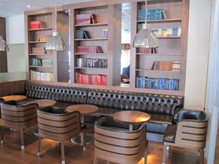 Chester Button Restaurant Seating - Zesty Steakhouse & Lounge - Sweden Scandinavian style commercial spaces by Atlas Contract Furniture Scandinavian