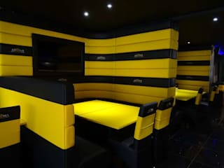 Restaurant Fit Out - Aroma Lounge, Southampton:  Commercial Spaces by Atlas Contract Furniture