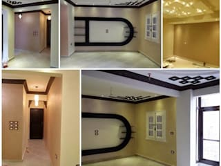 Mr. Mohamed Appartment:  غرفة المعيشة تنفيذ Etihad Constructio & Decor