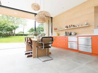 North Somerset Kitchen Craigie Woodworks Modern style kitchen Wood Orange