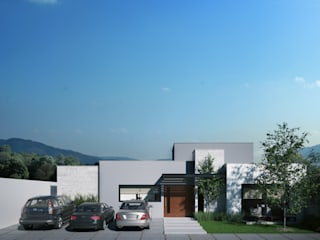 Casa RL 214 Garajes modernos de Ambás Arquitectos Moderno