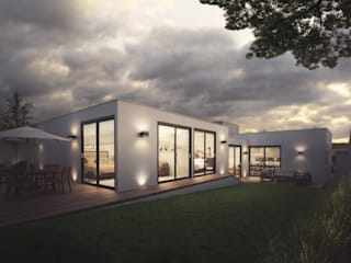 Casa RL 214 Jardines modernos de Ambás Arquitectos Moderno