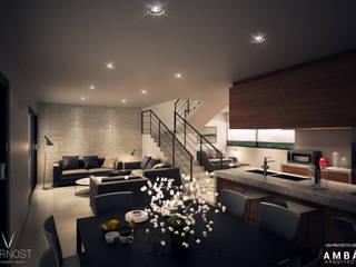 Casa AM 23 Comedores modernos de Ambás Arquitectos Moderno