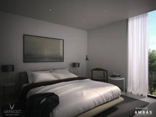 Casa AM 23 Dormitorios modernos de Ambás Arquitectos Moderno