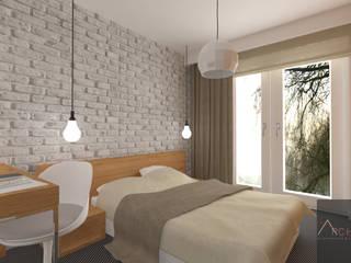 Dormitorios de estilo escandinavo de Architega Sp. z o.o. Escandinavo