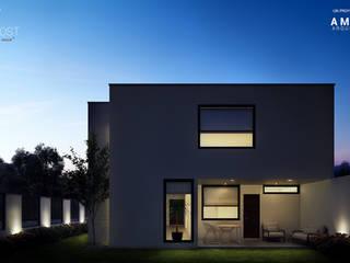 Casa Dátil 26 Balcones y terrazas modernos de Ambás Arquitectos Moderno