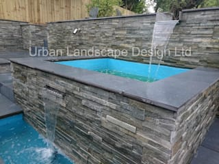 Split level garden with water feature Jardin moderne par Urban Landscape Design Ltd Moderne