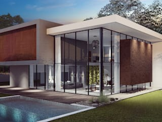 Casas modernas de Habitá Arquitetura Moderno
