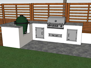 Outdoor Kitchen - BBQ Area Oleh Design Outdoors Limited