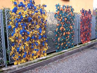 Terrazzo e giardino con pannelli in dibond: Giardino in stile in stile Eclettico di Dima snc di Maiocchi Dario e c.