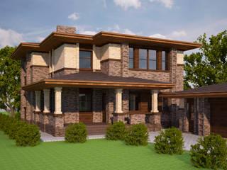 現代房屋設計點子、靈感 & 圖片 根據 АРХИФАБРИКА 現代風