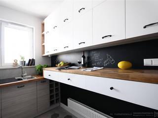 Kuchnia w stylu skandynawskim Skandynawska kuchnia od Pracownia Projektowa Pe2 Skandynawski
