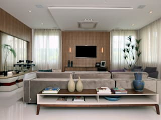 Eveline Sampaio Arquiteta e Designer de Interiores Living room MDF Brown