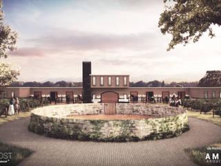 Caballerizas Villa Regalis Jardines modernos de Ambás Arquitectos Moderno