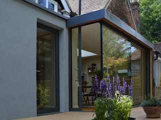 Glazed Extension for a 19th Century Home ArchitectureLIVE Modern home Glass Transparent
