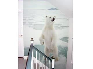 Home - Staircase Wall Mural - Polar Bear Wallpaper Mural: scandinavian  by the WOW wall Ltd, Scandinavian