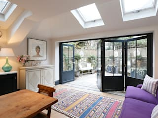Battersea Bifold doors:  Kitchen by Cedar Bifold Company