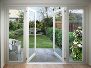 Range of Doors:  Dining room by Cedar Bifold Company