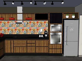 Cozinha e Lavanderia - Limeira/SP Cozinhas rústicas por Studio4Interiores Rústico