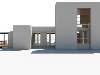 Fachada Sur: Casas unifamiliares de estilo  por 1.61 Arquitectos,Mediterráneo