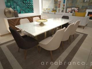 Projeto NR Salas de jantar modernas por Areabranca Moderno
