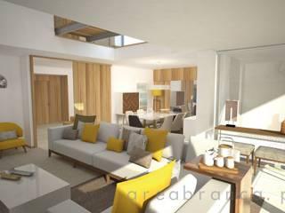 Projeto NR Salas de estar modernas por Areabranca Moderno