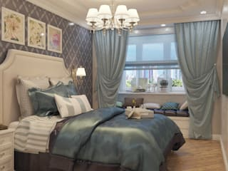 Идеальная спальня: Спальни в . Автор – Дизайнер интерьера Екатерина Семыкина