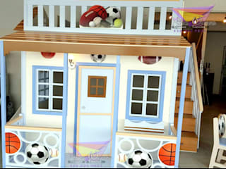Fabulosa casita celestial de balones de camas y literas infantiles kids world Moderno Derivados de madera Transparente