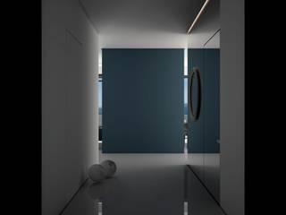 Minimalist corridor, hallway & stairs by Way-Project Architecture & Design Minimalist